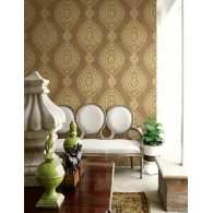 Oval Medallion Stripe Jaipur 2 Wallpaper Room Setting