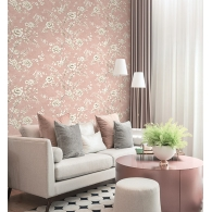 Asian Trail Brownstone Wallpaper Room Setting