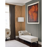 Stripe Brownstone Wallpaper Room Setting