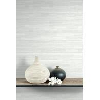 Grasscloth String Brownstone Wallpaper Room Setting