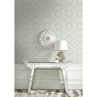Shape on Grass Brownstone Wallpaper Room Setting