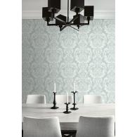 Damask Brownstone Wallpaper Room Setting