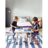 Road & Turf Trellis Playdate Adventure Wallpaper Room Setting