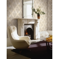 Ironwork Medallion Como Wallpaper Room Setting