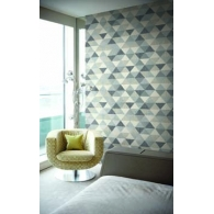 Multicolor Triangles Mod Geo Wallpaper Room Setting