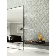 Geometric Diamond Textile Effects Wallpaper Room Setting