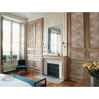 Ironwork Faux Como Wallpaper Room Setting