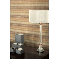Woven Stripe Textile Effects Wallpaper Room Setting