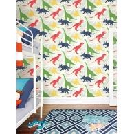 Dinosaurs Playdate Adventure Wallpaper Room Setting