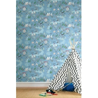 Campground Map Playdate Adventure Wallpaper Room Setting