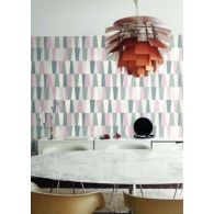 Stripe Geometric Mod Geo Wallpaper Room Setting