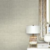 Woven Linen Textile Effects Wallpaper Room Setting