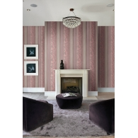 Acanthus Stripes Como Wallpaper Room Setting