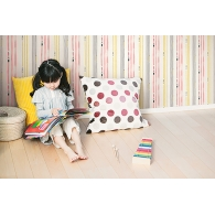 Outside the Lines Stripe Playdate Adventure Wallpaper Room Setting