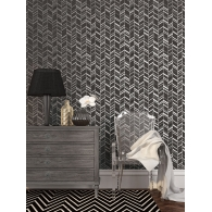 Chevron Panel Effect Special FX Wallpaper Room Setting
