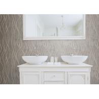 Contemporary Swirl Ribbon Special FX Wallpaper Room Setting
