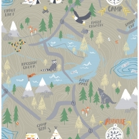 Campground Map Playdate Adventure Wallpaper