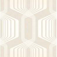 Hexagon Stripe Mod Geo Wallpaper