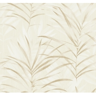 Tropical Leaves Textile Effects Wallpaper