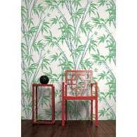 Bamboo Sumi Wallpaper Room Setting