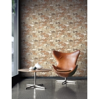 Brick Modern Foundation Wallpaper Room Setting