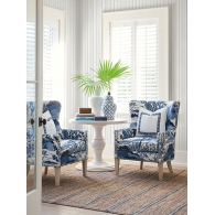 Ticking Stripe Barclay Butera Wallpaper Room Setting