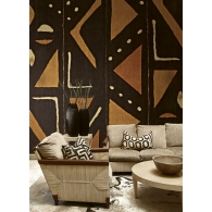 Mudcloth Global Style Mural Room Setting
