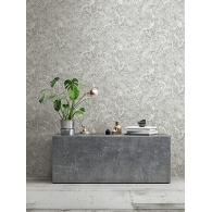 Water Stone Faux Finish Modern Foundation Wallpaper Room Setting