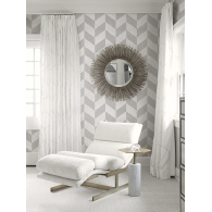 Linen Herringbone Luxe Revival Wallpaper Room Setting