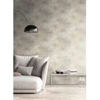 Geo Faux Suede Wallpaper Room Setting