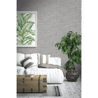 Hexagon Geometric Maui Maui Wallpaper Room Setting
