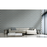 3D Wood Geometric Modern Foundation Wallpaper Room Setting