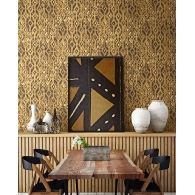Watercolor Diamond Global Style Wallpaper Room Setting