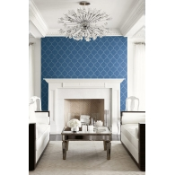 Shagreen Tile Luxe Revival Wallpaper Room Setting