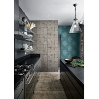 Metallic Blocks Sumi Wallpaper Room Setting