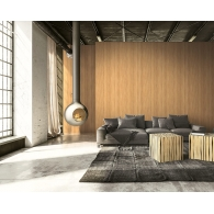 All-Over Woodgrain Modern Foundation Wallpaper Room Setting