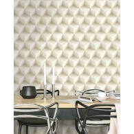 3D Concrete Diamonds Modern Foundation Wallpaper Room Setting
