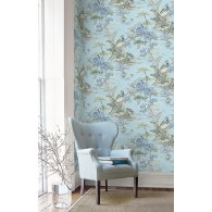 Bird Trail Sumi Wallpaper Room Setting