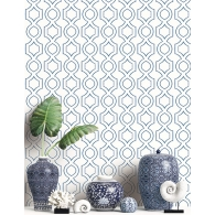 Handdrawn Geometric Maui Maui Wallpaper Room Setting