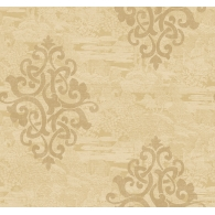 Damask on Monotone Novelty Sumi Wallpaper