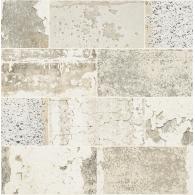 Distressed Tile Modern Foundation Wallpaper