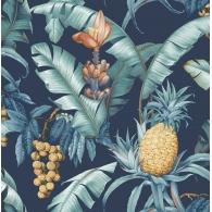 Pineapple Floral Maui Maui Wallpaper