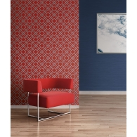Geometric Sumi Wallpaper Room Setting