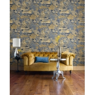Novelty Sumi Wallpaper Room Setting