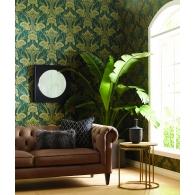 Nouveau Damask Antonina Vella Deco Wallpaper Room Setting