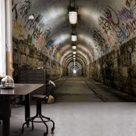 City Tunnel Graffiti Grunge Mural Room Setting
