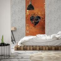 Heart Grunge Mural Room Setting