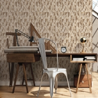 Rusty Triangles Grunge Wallpaper Room Setting