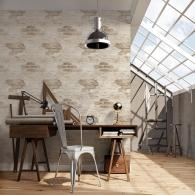 Exposed Brick Grunge Wallpaper Room Setting