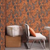Rusty Stripe Grunge Wallpaper Room Setting